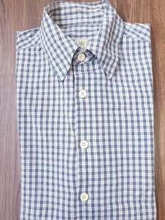 Men's short sleeve collar shirt - checkered