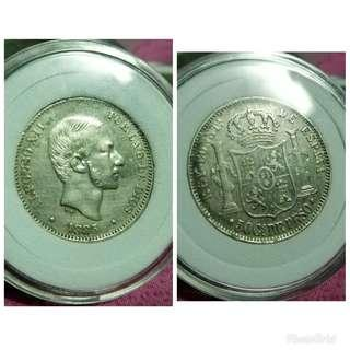 Alfonso 50c Old coins