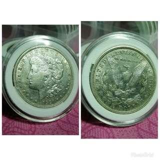Mogan dollar silver old coins