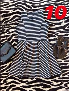 Stripes blue and white dress