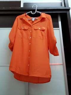 H&M Orange Blouse
