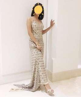 Gold long gown(For rent/sale)