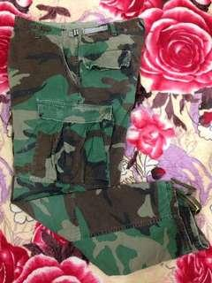 US Army Camouflage Trouser Combat Cargo Pants Size 35-39