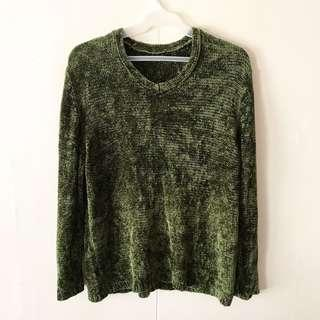 Green Knit Pullover / Top