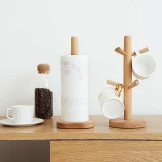 Beech Wood Kitchen Towel Holder