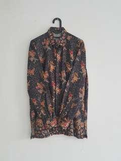 Kemeja Batik Lengan Panjang - formal satin