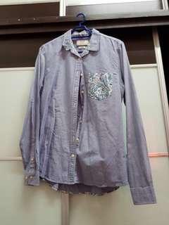 Denim with Paisley Print Shirt
