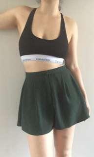 Beautiful Flowey Green Shorts