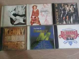 Audio CDs for sale - Kenny Rogers, Eric Clapton, Bee Gees etc