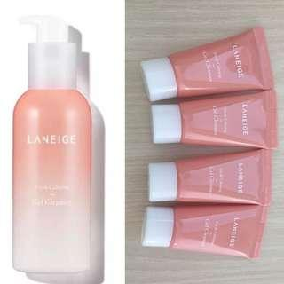 4x Laneige Fresh Calming Gel Cleanser 15ml