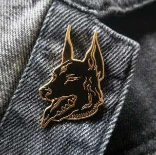 Selfmade! - Hard Enamel Doberman Pin