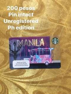 MANILA STARBUCKS CARD PIN INTACT