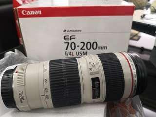 Canon 70-200mm F/4L USM Lens