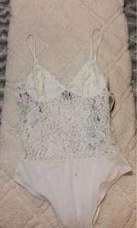 White lace bodysuit (med)