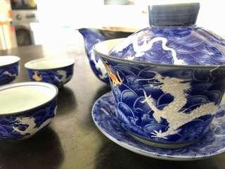 90% new chinese tea set