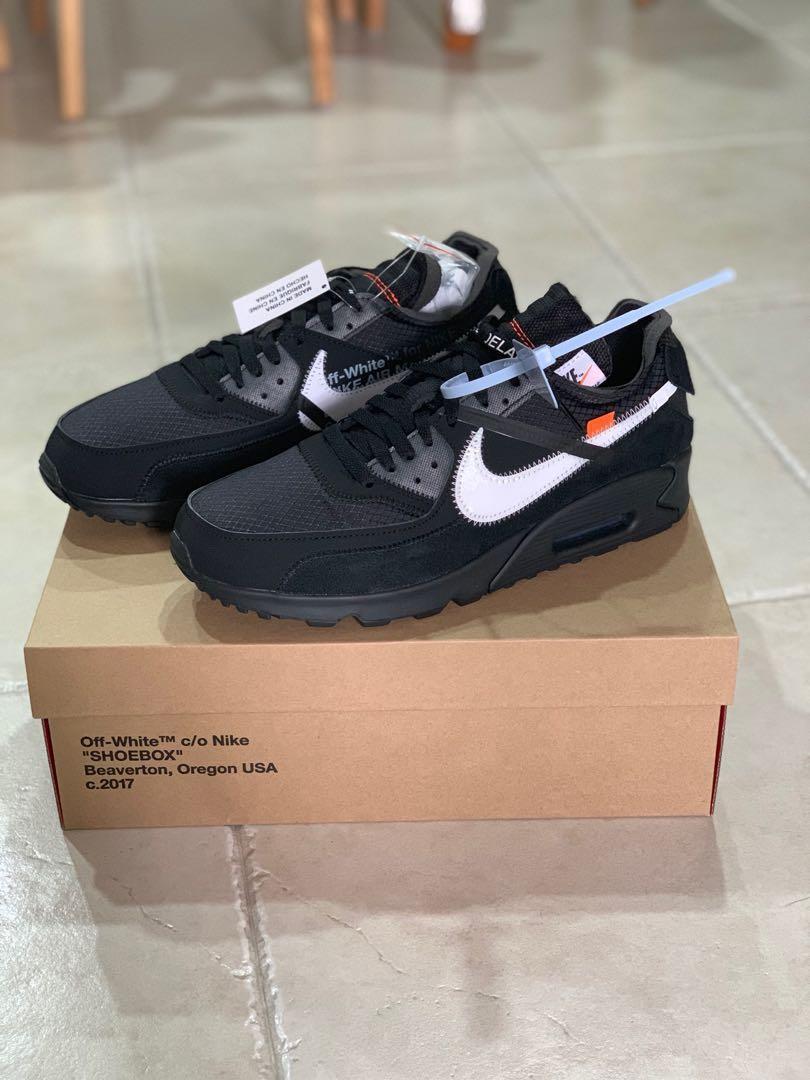 "43038bd8 10.5 US"" Nike off white air max 90 black, Men's Fashion, Footwear ..."