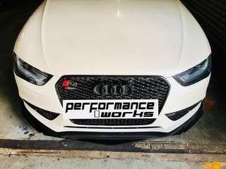 Universal Lower Lip Bodykit on Audi A4 w Install