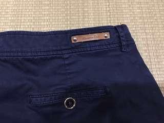 Massimo Dutti Navy Blue Women's Shorts Pants