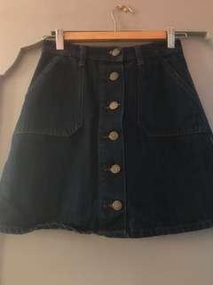68 Denim A-line Skirt