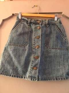 68 Light Denim A-line Skirt