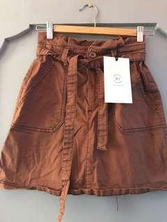 Cotton On Brown Tie Knot Skirt
