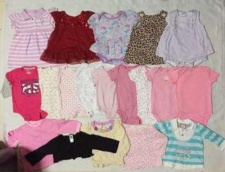 Baby girl preloved clothes 3-6m