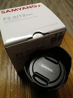 98%新 Samyang 12mm f/2.0 (Sony E mount)