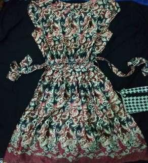 Dress batik sutera halus