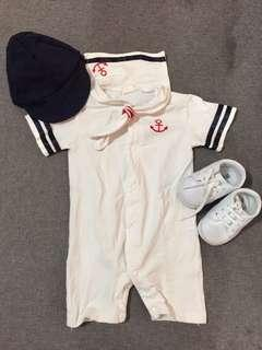 Navy Sailor Costume for baby boy COMPLETE SET