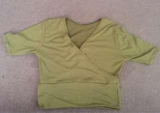 REPRICED! Green Ribbed top