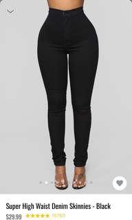 🚚 Fashionnova Black High Waisted Jeans