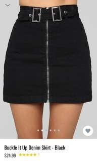 Fashionnova High Waisted Buckle Skirt