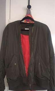 Khaki bomber jacket new