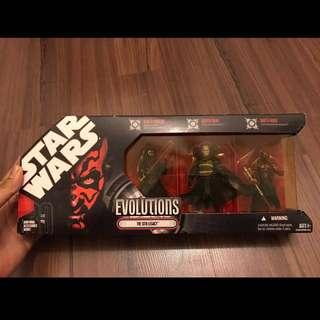 2008 STAR WARS 30th Anniversary Evolutions The Sith Legacy 3 figure set