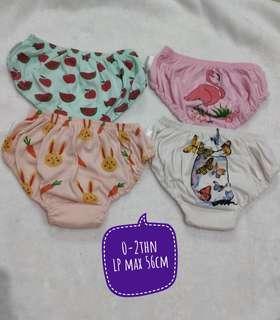 [Preloved] Celana Dalam Anak Perempuan Jobel Kazel 4in1 0-2y