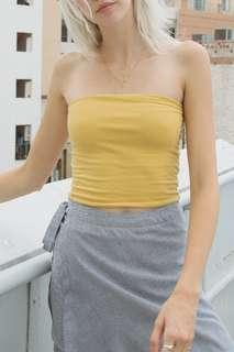 Brandy Melville Mustard Jenny Tube Top