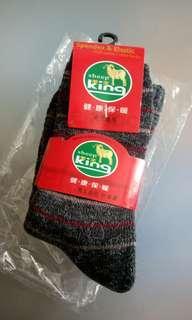 厚身防跣保暖羊毛襪