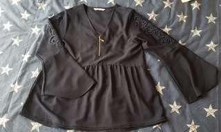 Doll peplum blouse