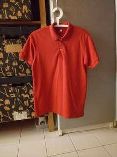 Uniqlo red polo