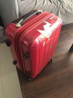 🚚 Cabin luggage - suitcase - red - 4 wheels