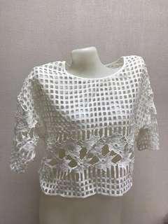 Brand new premium white lace top