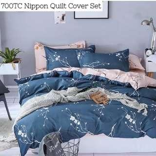 Nippon Soft Fitted Bedsheet Quilt Cover Set