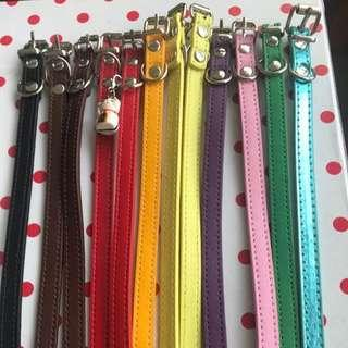 🚚 Cat and dog PU leather collar