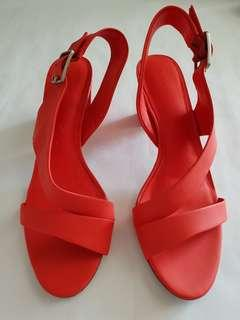 Pedro Orange Sling Back Sandals