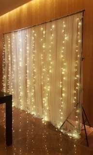 Fairylight backdrop rental