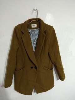 墨綠色 復古西裝外套