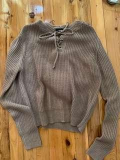 Beige Knitted Jumper Top