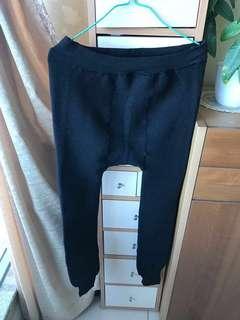 孕婦彈性有絨長褲