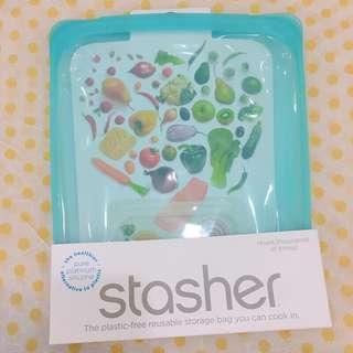 美國stasher矽膠食物袋(大)