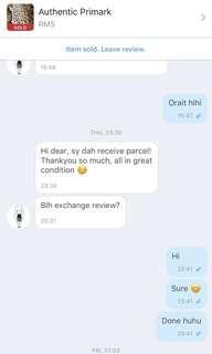 Positive feedback! TQ 😘